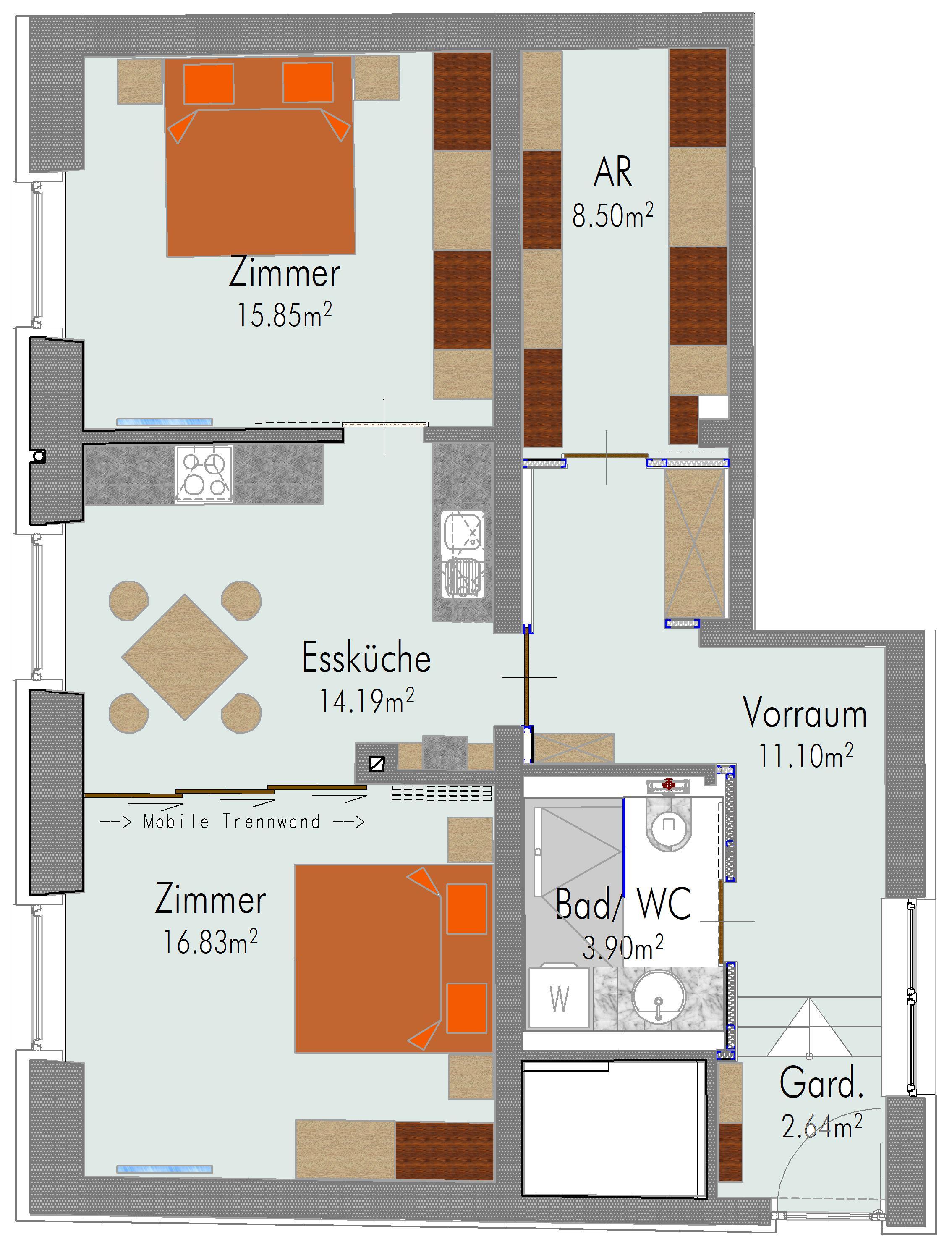 2 Zimmer Wohnung In Eisenstadterstrasse Wohnung Generalsaniert